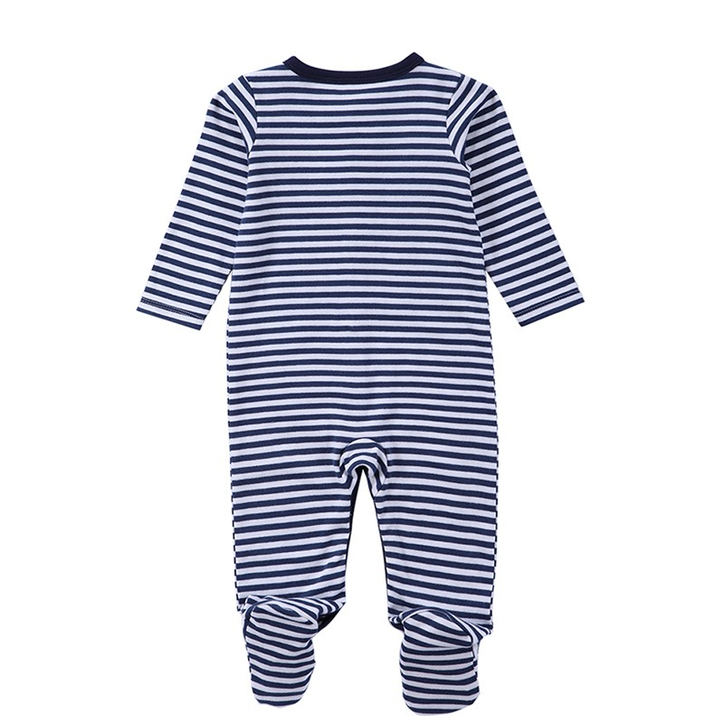 Baby Boys Girls Long Sleeve Rompers 2016 Autumn and Winter Newborn Boys Striped Jumpsuit Infant Baby Clothing Retail (2)