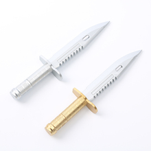 2PCS School Office Ball Pens Unique Knife style Ballpoint Pen Creative Gift Learning Stationery gold silver