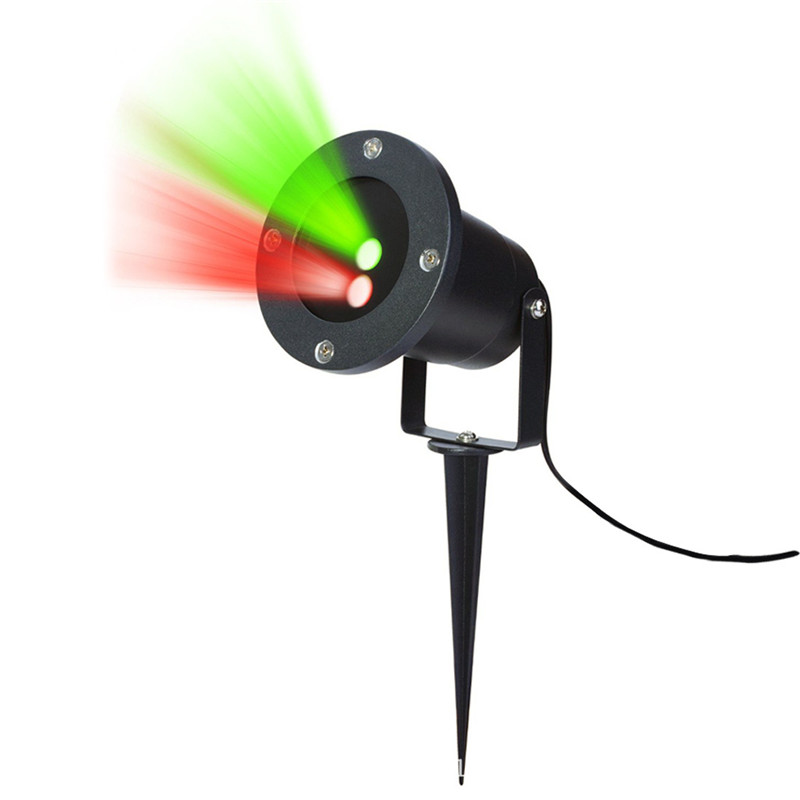 1X Moving Effect Christmas Laser Led Projector RED GREEN dot Outdoor Garden Park Lawn Spotlight Holiday Projector Xmas Lamp L655<br>