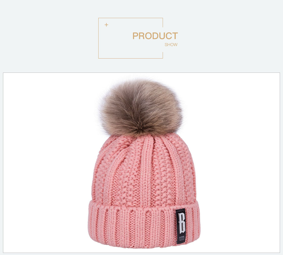 2017 Fashion Women Knitted Winter Hats Warm Cotton Skullies Beanies Pompoms Winter Caps For Women Winter Thick Beanies Caps
