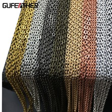 GUFEATHER AliExpress Lowest Price Bronze/Accessories parts/jewelry accessories/diy chain/antique bronze/10m wholesale
