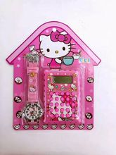 New 10 pcs Cartoon Hello Kitty  Wristwatch Watch And Calculator Set  Best Gift  Toy Watch A-235