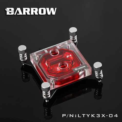 Barrow CPU Water Cooling Block only use for Intel X99 Acrylic 0.4MM Microcutting Microchannels RGB Lighting Control LTYK3X-04<br>