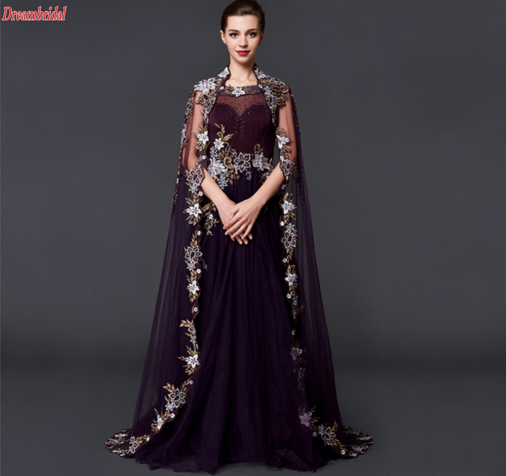 Dreambridal 2017 Fashion Long Sleeve Women Clothing Sexy Mermaid Evening Prom Dress High-end lace applique Vintge Prom Dress