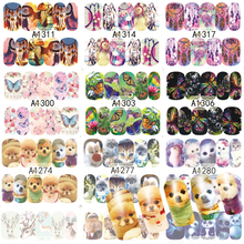 48 Sheets Nail Art Decorations Sets Animal Beautiful Dream Catcher Water Transfer Nails Sticker Full Decals Tools A1273-1320(China)