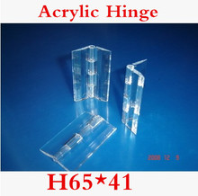 20PCS/LOT H65*41  Acrylic Hinge, Transparent Hinge, Plexiglass Hinge, organic glass hinge 65x41mm ,furniture accessory