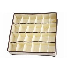 24 Cells Foldable Closet Drawer Organizer Box For Bra Underwear Tie Sock Cells