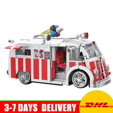 Xingbao 08004 Genuine Technic Series The Ice Cream Car Set Building Blocks Bricks Children Educational Toys Best Gifts 1000Pcs