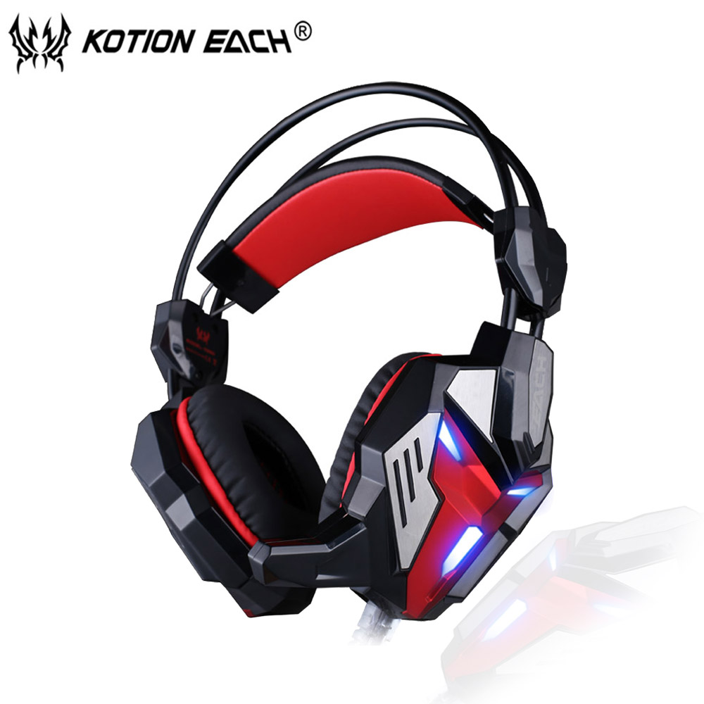 KOTION EACH G3100 Transformers version Gaming Headset PC gamer Headphone with Mic LED Light Vibration Function for Computer game<br><br>Aliexpress