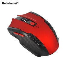 Kebidumei New 2.4Ghz Mini Optical Mouse Computer Office Wireless Gaming Mouse Mice For PC Laptop Computer(China)