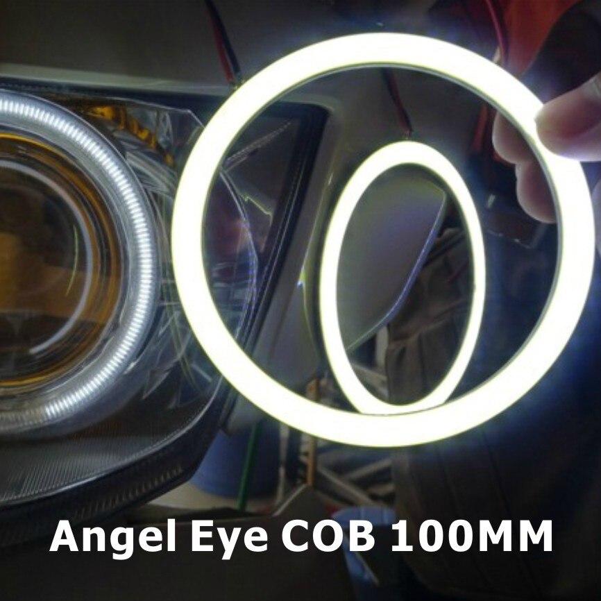 2x 100mm COB Angel Eye LED Motorcycle Car Light Halo Rings Waterproof Auto Headlight Car LED Lighting 2 COB light+2 Lampshades<br><br>Aliexpress