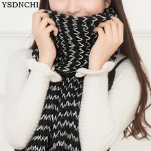 YSDNCHI Winter Female Knitted Scarves Outwear Women Mohair Scarf Stripe Mujer Blanket Warm Shawls New Design 2017 High Quality