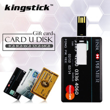 Hot sale 4gb 8gb 16gb pendrive Bank Credit Card Shape 32gb 64gb USB Flash Drive Pen Drive Memory Stick best gift