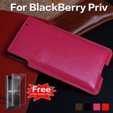 SIKAI New Arrival Drop Proof Pouch For Blackberry Priv Case Magnetic Sleep Genuine Leather Pocket For Blackberry Priv Phone Case