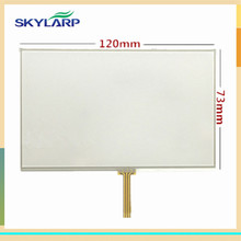10pcs/lot New 5 inch Touch screen for TomTom VIA 1525 1535 GPS digitizer panel replacement Free shipping