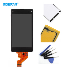 100% Tested Black For Sony Xperia Z1 Mini Compact D5503 M51W LCD Display Touch Screen Digitizer Assembly+Adhesive+Repair Tools(China)