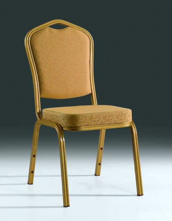 wholesale quality strong golden stacking aluminum banquet chairs LQ-L1030GR<br>