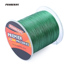 PROBEROS 500M PE Braided Fishing Line 4 Stands Multifilament Fishing Line Angling Accessories 6LBS to 80LB 5 Colors