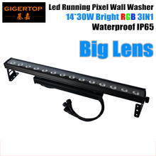 TIPTOP 14X30W Led Wall Washer Light Stage Building Curtain Washer Effect RGB 3IN1 Big Lens 25 Degree LED Individual Run