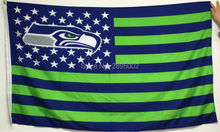 Seattle Seahawks Classic USA Stripes Banner Flag Polyester grommets 3' x 5' Custom metal holes Hockey Baseball Football Flag(China)