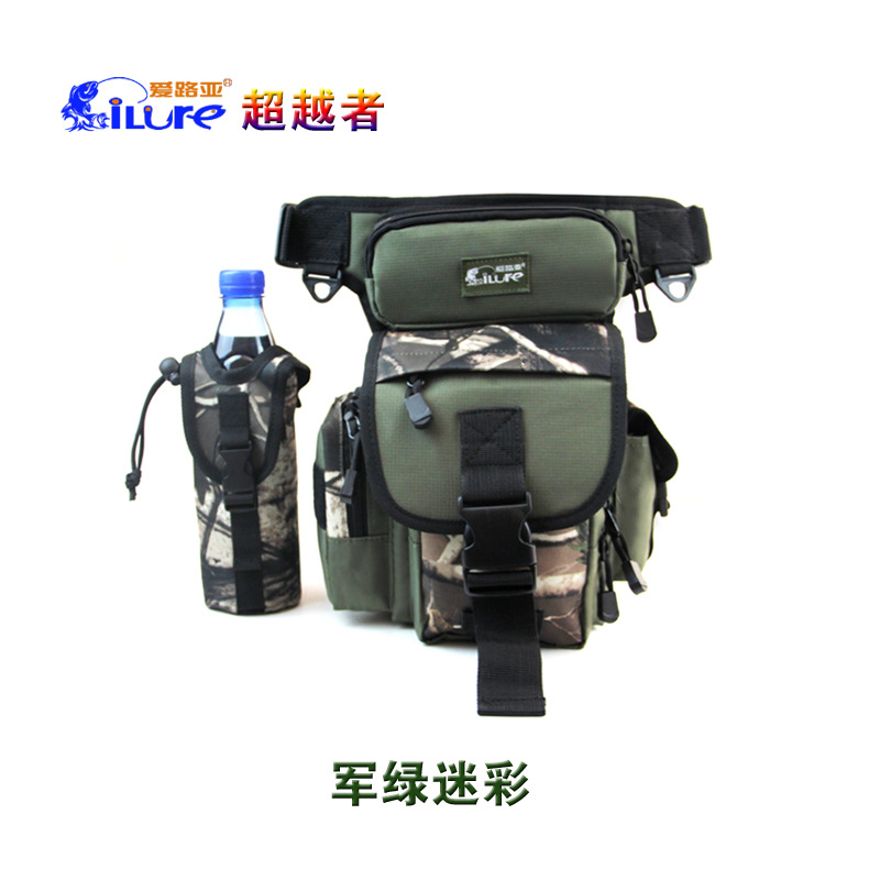 29*22*12CM iLure Fishing Bag Multi-Functions Waterproof Canvas Fishing Reel Lure Tackle Bag 4 Colors<br><br>Aliexpress