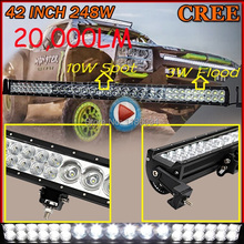 "Free UPS ship!42"" 248W( 14X10W+36X3W mixed) 40400LM 10~30V,LED working bar,Boat,Bridge,Truck,SUV Offroad car,troops,1pcs,black!"