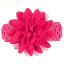 Headbands Newly Design Little Girls Big Flower Elastic Lace Hair Accessories 160405 Drop Shipping(China)