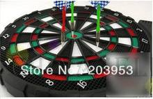 free ship 12 inches electronic soft dart target electronic dart board scorer Electronic scoring and sound 18 game 6 soft dart(China)