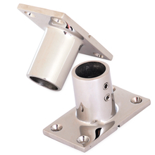 "CITALL 2pcs 90 Degree T Type 22mm 7/8"" Rectangular Base Stainless Steel Boat Yacht Hand Marine Hardware Rail Fittings Tube(China)"