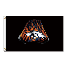 gloves Denver Broncos Flag World Series Super Bowl Champions Football gloves Banner Manning Denver Broncos Banner(China)