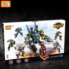 115LOZ Mini Building Blocks Transformation Robot Engineering Hercules Technic Creator Bricks Toys Children - Fun castle store