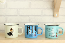 Free shipping  Moomin Thermos Cups Cute Ceramic Moomin Coffee Mug Tea Beer Cup  With Handgrip