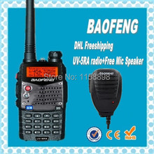 DHL Freeshipping+radio walkie talkie baofeng uv-5ra uv 5r,fm radio station,vhf uhf Dual Band,compared alan midland + speaker mic