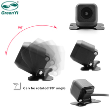 GreenYi HD Mini Hide Auto Vehicle Automobile Car Rear View Camera with Grid Lines 12V Waterproof Safety Driving No Blind Spot(China)