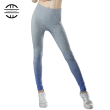 Yel gym Yoga Dress Pants Hot Girls Suit Wicking trousers for women Sports Tights Fitness Legging Capris Ropa Deportiva Running(China)