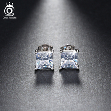 ORSA JEWELS Square Crystal Stud Earring Hot Selling Earrings Made of AAA Cubic Zirconia Fashion Jewelry Supplier OE79