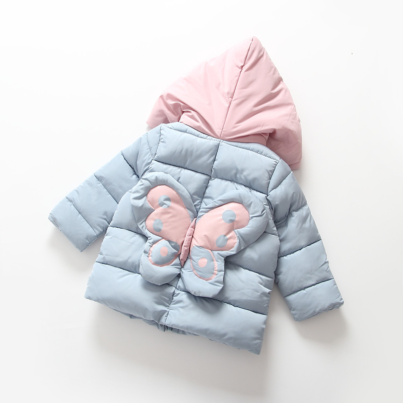 Girls Winter Jackets 2017 Children Cartoon Hooded Down Parkas Warm Coat Kids Fashion Outwear Thicken Girls Clothing For 2-8YearsОдежда и ак�е��уары<br><br><br>Aliexpress