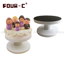 Plastic cake tilting turntable high quality cake decorating tools fondant cake DIY Revolving cake stand tools