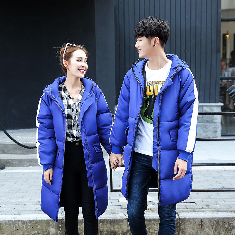 Casual Men Hooded Coat With Flap Pocket Thick Warm Long Jacket For Men Women Quilted Outfits Lovers Matching Coat Одежда и ак�е��уары<br><br><br>Aliexpress