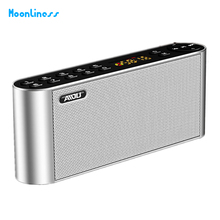 Q8 Bluetooth Speaker Portable Wireless led Display Sound Box speaker Handsfree Pocket Audio Subwoofer HiFi with Mic For Phone(China)
