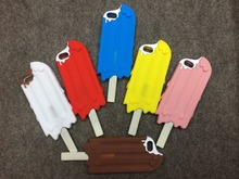 New Arrival Hot ice cream Phone Case Fashion 3D Phone Case Back Cover Silicon Chocolate Popsicle Case for Iphone 6Plus