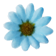 100 x Daisy flower flowers Artificial Christmas Decoration Blue House Office