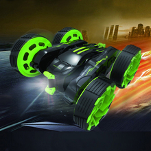 4CH Lights Car RC Stunt Deformation Car Highspeed Micro Racing Car Remote Control Toy Off-road Tractor Kid Toy Electric Cars(China)