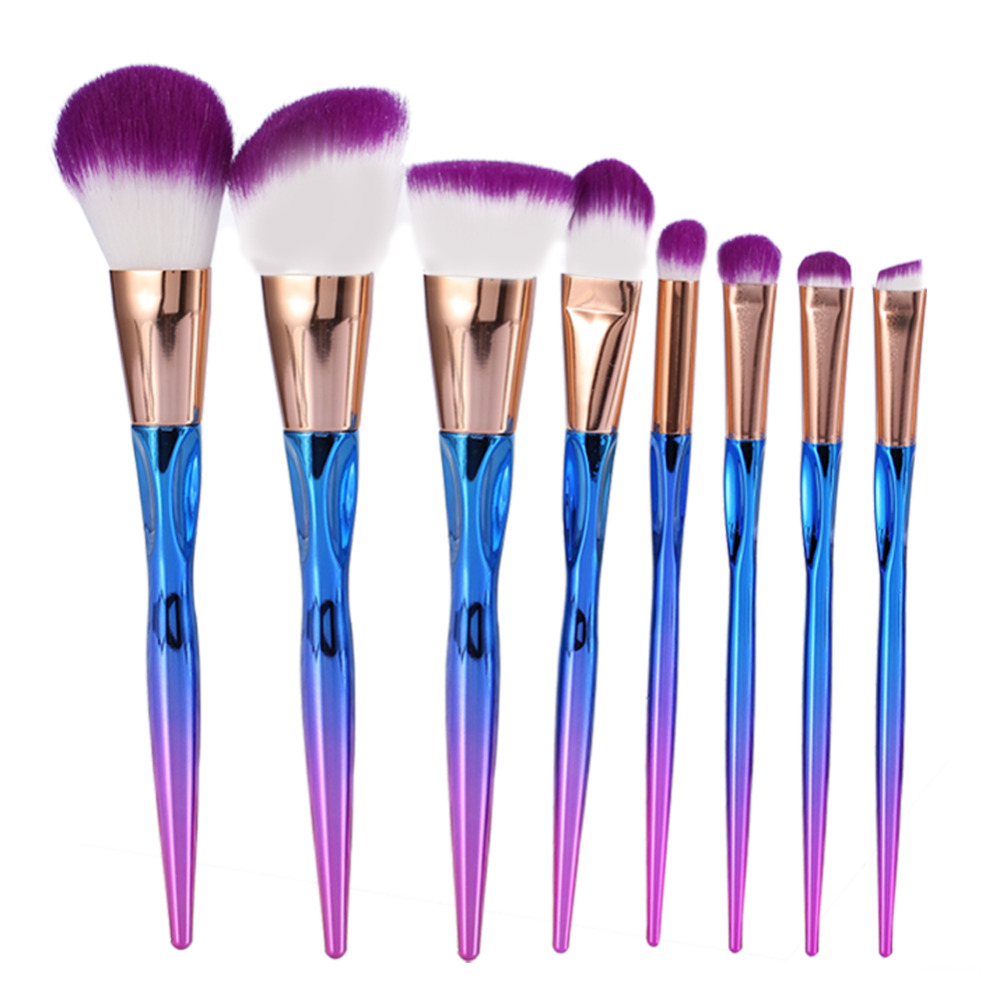 Eye makeup brushes set