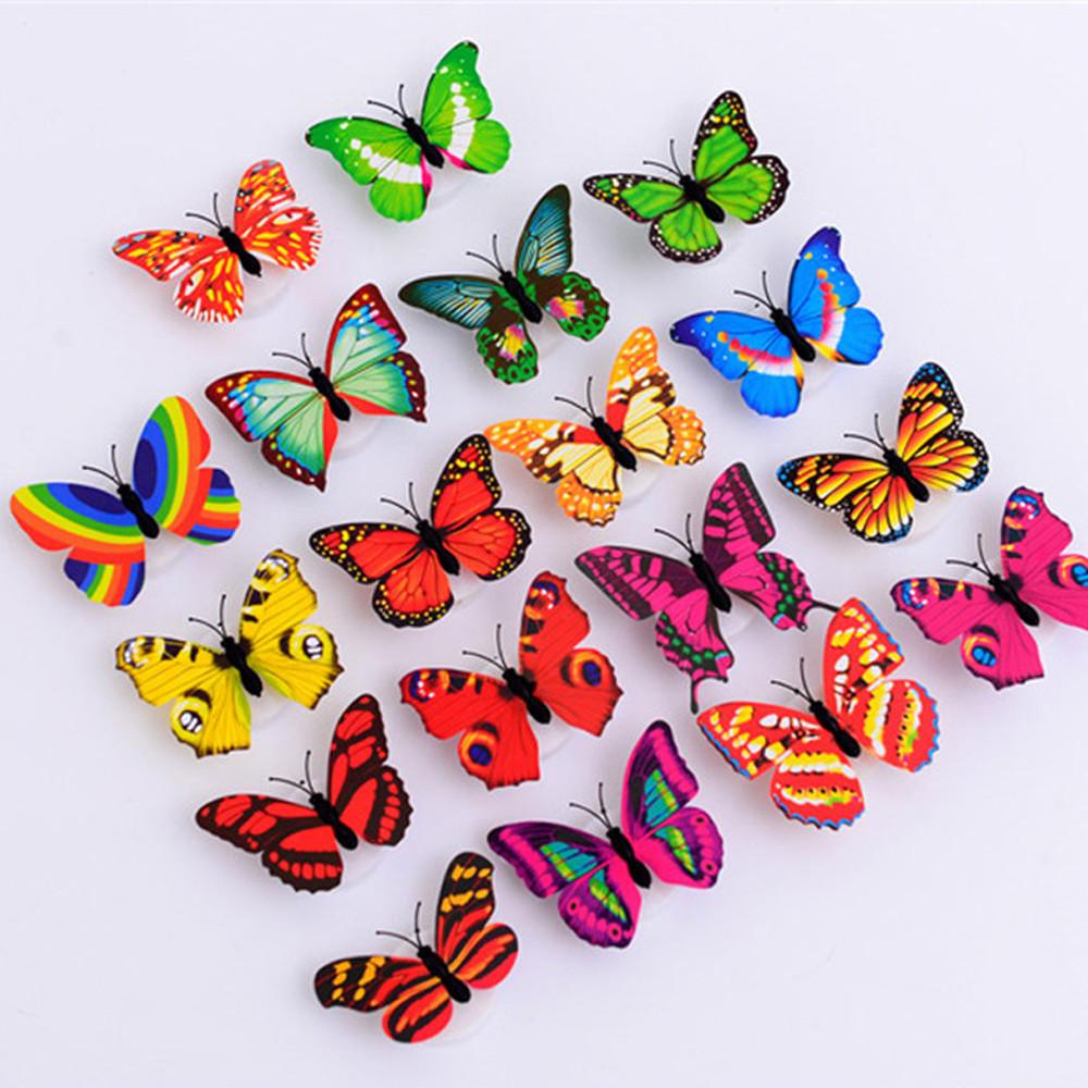 HTB1I76un8TH8KJjy0Fiq6ARsXXae - 1 Pcs Butterfly LED Light 3d Wall Sticker