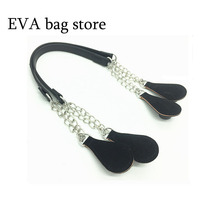 handle for Original Italy PU handle for Obag bag variable-length Bag Accessories For Women Silicon Handbag Style(China)