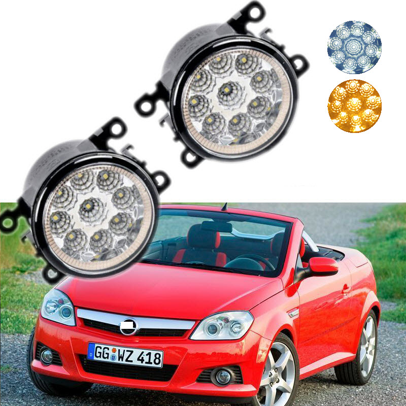 For Opel Tigra TwinTop B 2004-2009 9-Pieces Leds Chips LED Fog Light Lamp H11 H8 12V 55W Halogen Fog Lights Car Styling<br>