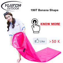 190T Banana Shape Beach lay bag Hangout Air Bed inflatable lounger laybag fast folding sleeping inflatable air sofa lazy bag