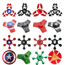 Newest Super Hero Spinner Captain America Spiner Hand EDC Fidget Metal spinner Superman Puzzle Toy For Autism Anxiety Adult kid(China)