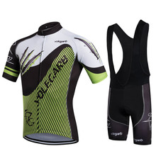 Specialized Men Cycling Sets Summer Bib Shorts  Cycling Short Sleeve Quick Dry Sport Jersey Mountain Bike GEL Pad Clothing